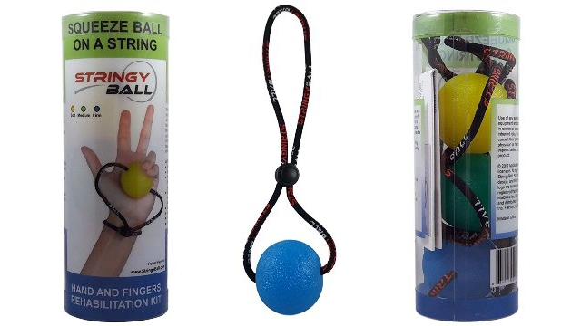 StringyBall Set Of 3 Squeeze Balls On A String